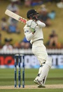 Henry Nicholls pulls during his 59, New Zealand v Australia, 1st Test, Wellington, 4th day, February 15, 2016