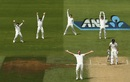 Josh Hazlewood trapped Doug Bracewell lbw, New Zealand v Australia, 1st Test, Wellington, 4th day, February 15, 2016