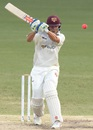 Charlie Hemphrey lines up to play a pull, Queensland v Tasmania, Sheffield Shield 2015-16, 4th day, Brisbane, February 17, 2016