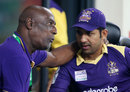 Quetta Gladiators mentor Viv Richards in conversation with Sarfraz Ahmed, Peshawar Zalmi v Quetta Gladiators, Pakistan Super League, 1st qualifying final, Dubai, February 19, 2016
