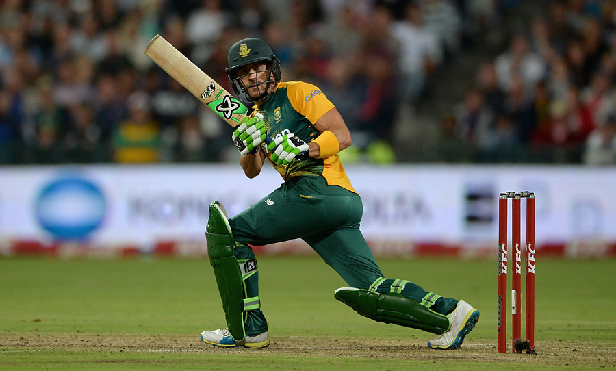 Du Plessis guided his team's chase from No. 3