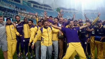Quetta Gladiators are ecstatic after their one-run victory against Peshawar Zalmi