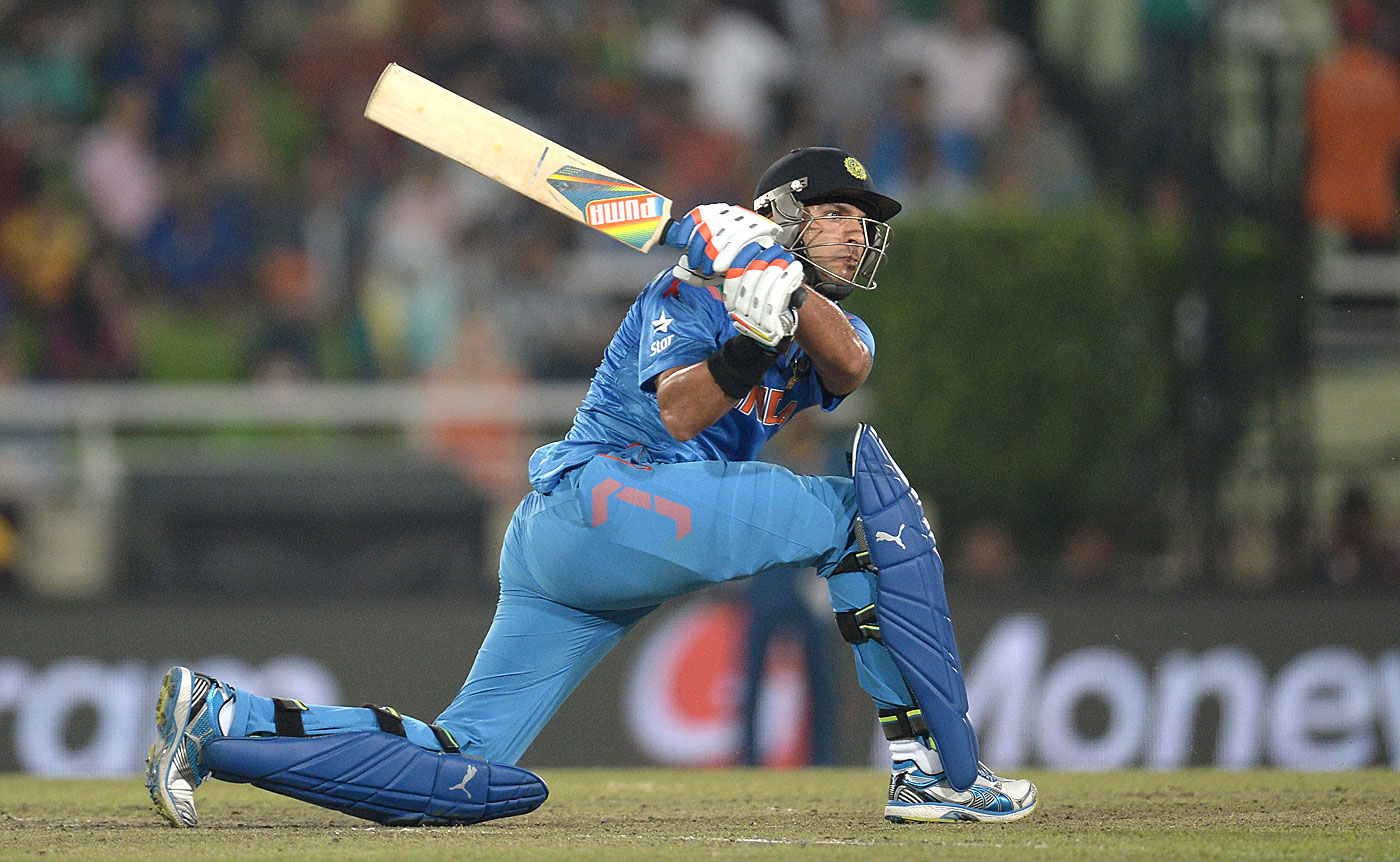 Top slogger: Yuvraj Singh hits a six every 7.47 balls he faces in the last six overs