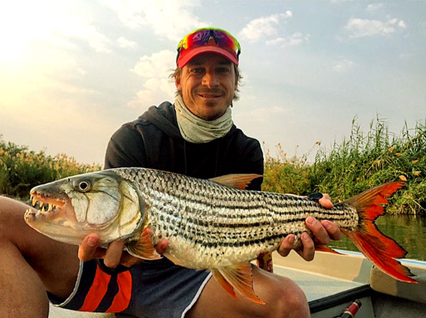 Whatta haul: a catch this size can be as satisfying as a five-for for an enthusiastic fisherman like Steyn