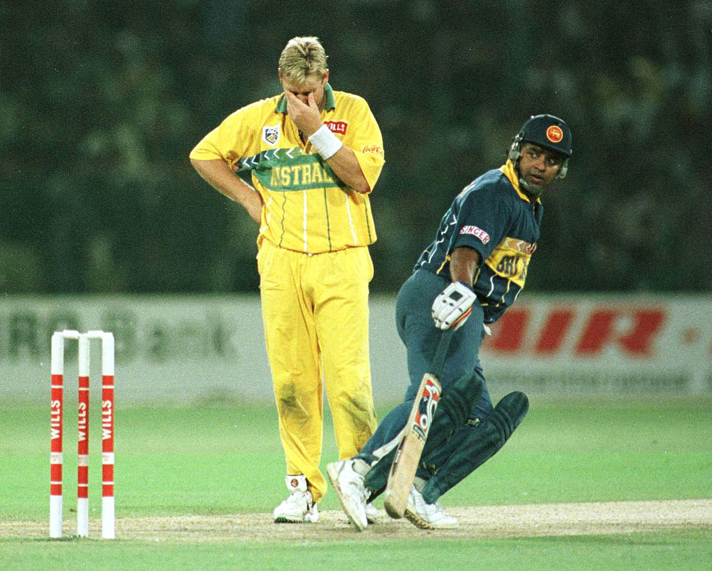 In the 1996 World Cup final, Ranatunga finished with 47 runs off 37 balls, Warne with 10-0-58-0