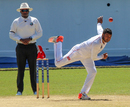 Jon-Russ Jaggesar in his delivery stride, Jamaica v Trinidad & Tobago, Regional 4-Day Tournament, 3rd day, Kingston, February 21, 2016