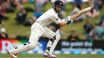 Kane Williamson steers one through the off side