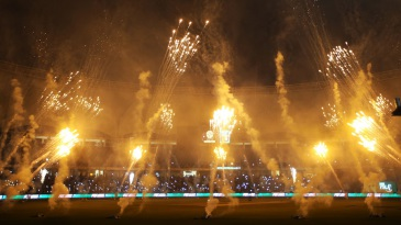 Plenty of fireworks lit up the start of the PSL final