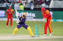 Mohammad Nawaz is bowled, Islamabad United v Quetta Gladiators, PSL final, Dubai, February 23, 2016