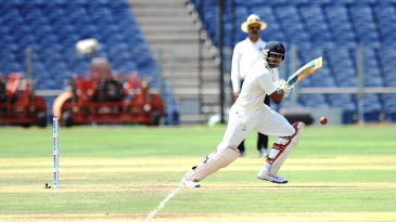 Shreyas Iyer bunts one through cover point