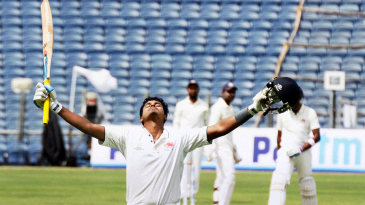 Shreyas Iyer soaks in the applause after reaching his century