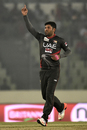 Mohammad Naveed finished with economical returns of 2 for 12, Bangladesh v UAE, Asia Cup 2016, Mirpur, February 26, 2016