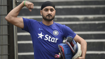 Harbhajan Singh poses for a photograph ahead of a practice session