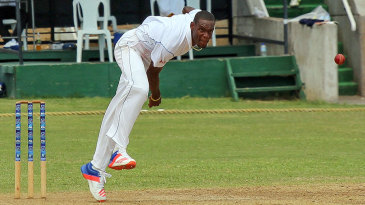 Barbados' Justin Greaves delivers the ball