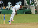 Barbados' Justin Greaves delivers the ball, Jamaica v Barbados, Regional 4-Day Tournament, Kingston, 1st day, February 26, 2016