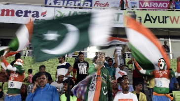 Indian and Pakistani fans gear up at the Shere Bangla Stadium