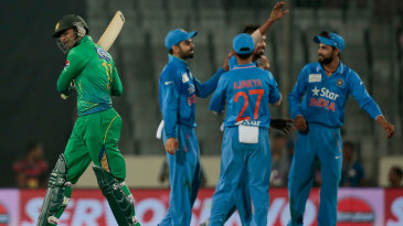 Hardik Pandya had Shoaib Malik caught behind for 4