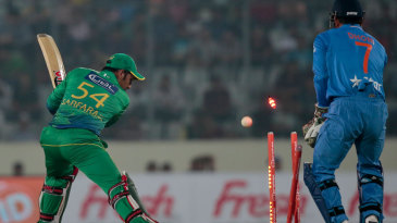 Sarfraz Ahmed was cleaned up for 25