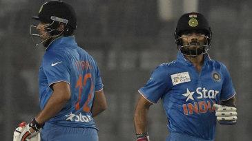 Virat Kohli and Yuvraj Singh shared a 68-run stand