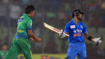 Virat Kohli was not happy after being given out lbw