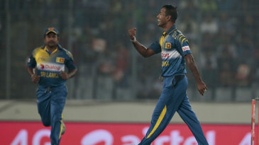 Nuwan Kulasekara got rid of Soumya Sarkar for a duck