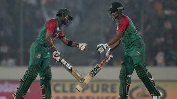 Sabbir Rahman and Shakib Al Hasan added 82 for the fourth wicket