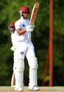 Keacy Carty brought up his maiden first-class fifty, Trinidad & Tobago v Leeward Islands, Regional 4-Day Tournament, 3rd day, Couva, February 28, 2016