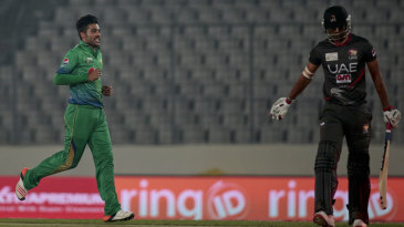 Mohammad Amir ended with figures of 4-1-6-2, the second-most economical in T20Is