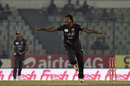 Amjad Javed wheels away in celebration, Pakistan v UAE, Asia Cup, Mirpur, February 29, 2016