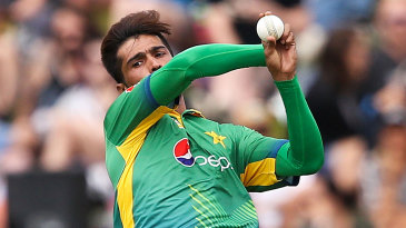 Mohammad Amir in his delivery stride