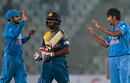 Jasprit Bumrah celebrates after dismissing Shehan Jayasuriya for 3, India v Sri Lanka, Asia Cup 2016, Mirpur, March 1, 2016