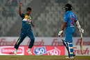 Nuwan Kulasekara got rid of Shikhar Dhawan in the second over, India v Sri Lanka, Asia Cup 2016, Mirpur, March 1, 2016