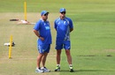 Darren Lehmann has a chat with Mark Waugh, Durban, March 2, 2016