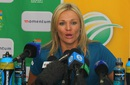 Mignon du Preez speaks to the media, Durban, March 3, 2016