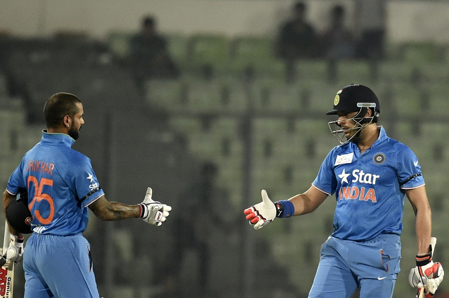 Shikhar Dhawan and Yuvraj Singh sealed the chase for India | Photo | Asia  Cup | ESPNcricinfo.com
