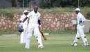 Bothwell Chapungu celebrates his maiden first-class century, Mid West Rhinos v Matabeleland Tuskers, Logan Cup, Bulawayo, March 3, 2016