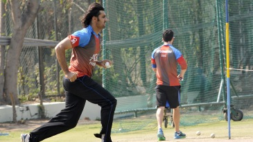 Shapoor Zadran in action during training