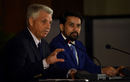 ICC chief executive David Richardson and BCCI secretary Anurag Thakur at a press conference in New Delhi on the eve of the first match of the World T20, March 7, 2016