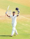 Suryakumar Yadav celebrates his century, Mumbai v Rest of India, 2nd day, Irani Cup, Mumbai, March 7, 2016