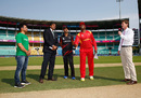 Hamilton Masakadza and Tanwir Afzal at the toss, Hong Kong v Zimbabwe, WT20 qualifier, Group B, Nagpur, March 8, 2016