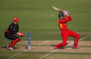Malcolm Waller plays through the off side, Hong Kong v Zimbabwe, WT20 qualifier, Group B, Nagpur, March 8, 2016