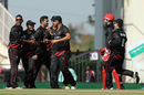 Tanwir Afzal struck twice in his first spell, Hong Kong v Zimbabwe, WT20 qualifier, Group B, Nagpur, March 8, 2016