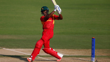 Vusi Sibanda hits through the leg side
