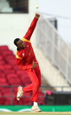 Wellington Masakadza delivers a ball, Hong Kong v Zimbabwe, WT20 qualifier, Group B, Nagpur, March 8, 2016