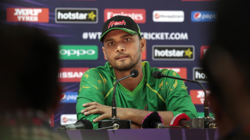 Mashrafe Mortaza is all ears during a press conference
