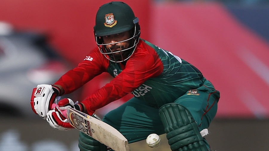 Tamim Iqbal plays a shot en route to his unbeaten 83