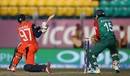 Stephan Myburgh is castled by Nasir Hossain, Bangladesh v Netherlands, World T20 qualifier, Group A, Dharamsala, March 9, 2016