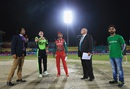 William Porterfield tosses the coin as Sultan Ahmed looks on, Ireland v Oman, World T20 qualifier, Group A, Dharamsala, March 9, 2016