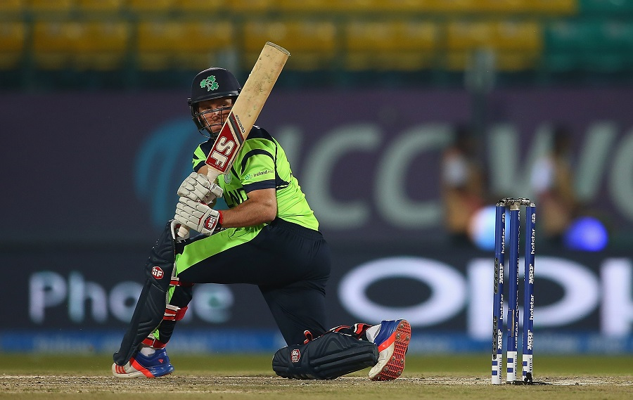 Ireland lost some momentum in the middle overs but Gary Wilson kept them ticking with a 34-ball 38 even as two wickets fell before his