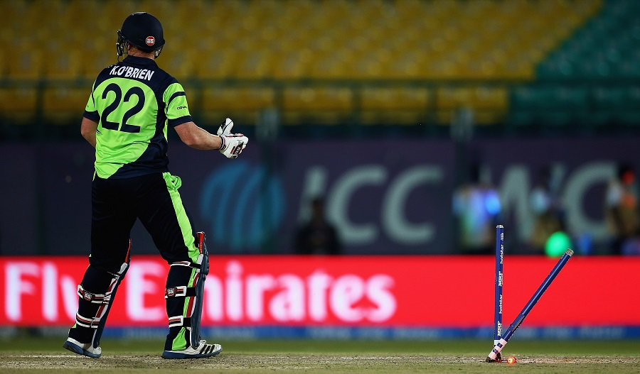 A few late boundaries and a wicket in the last over meant Ireland put on a competitive 154 for 5